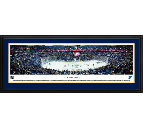 NHL St. Louis Blues Center Ice Framed Photographic Print by Blakeway Worldwide Panoramas, Inc