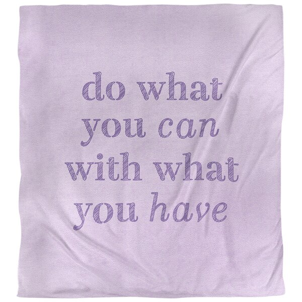 Quotes Handwritten Do What You Can Single Reversible Duvet Cover