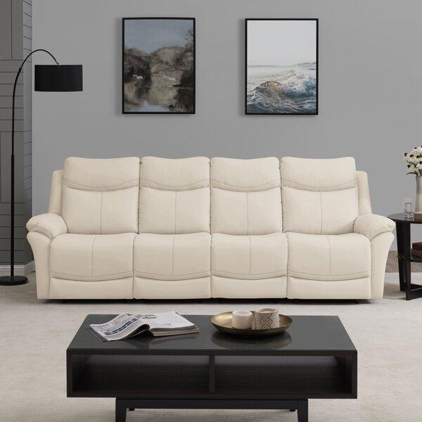 Jabari 4 Seat Wall Hugger Home Theater Sofa by Red Barrel Studio