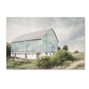 'Late Summer Barn I' Photographic Print on Wrapped Canvas by Trademark Fine Art