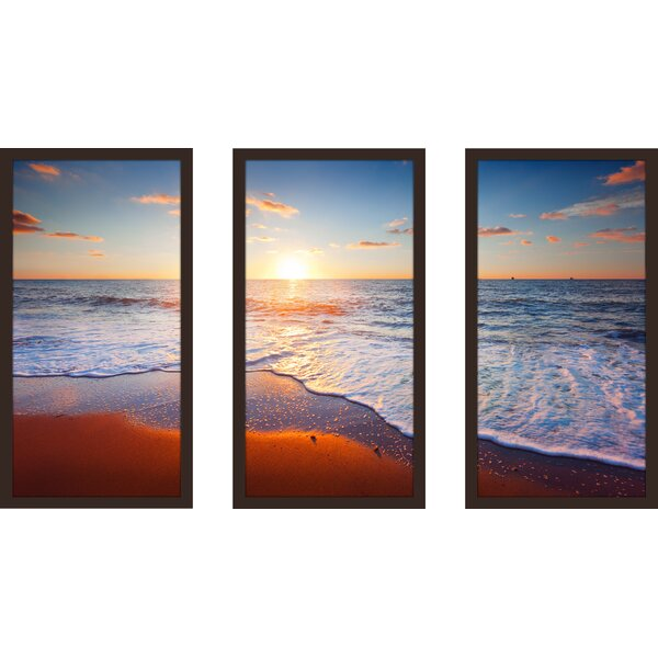 Sunset Splendor 4 3 Piece Framed Photographic Print Set by Picture Perfect International