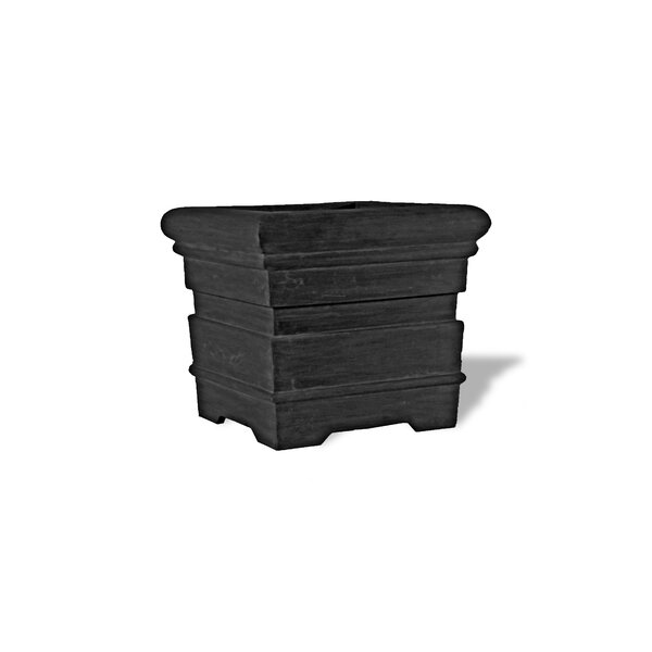 Grooved Roll Rimmed Composite Pot Planter by Amedeo Design