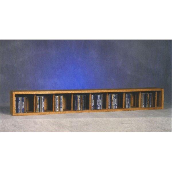 100 Series 106 CD Multimedia Tabletop Storage Rack by Wood Shed