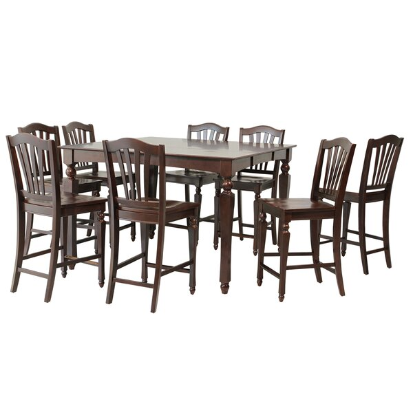 Mirella 9 Piece Counter Height Dining Set by Darby Home Co