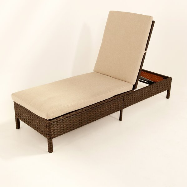 Howard Rattan Chaise Lounge by Ivy Bronx