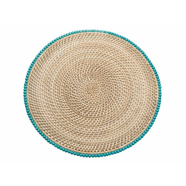 Cresthaven Round Rattan Placemat (Set of 2) by Highland Dunes