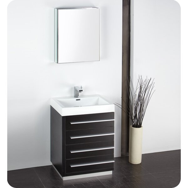 Senza 24 Single Bathroom Vanity Set with Mirror by Fresca