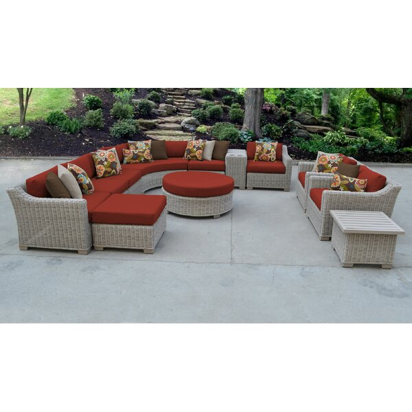 Coast 12 Piece Sectional Seating Group with Cushions by TK Classics