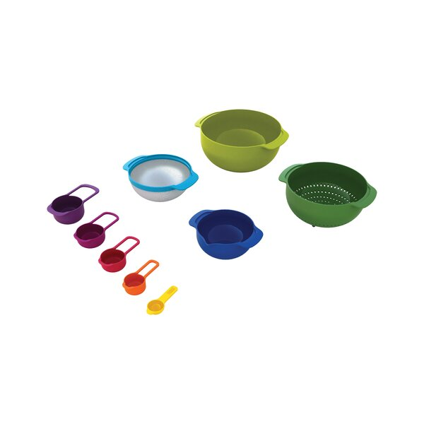 Nest 9 Piece Mixing Bowl Set by Joseph Joseph