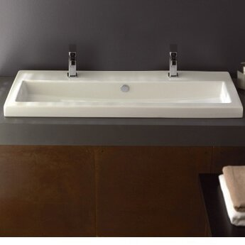 Series 40 Ceramic Rectangular Drop-In Bathroom Sink by Ceramica Tecla by Nameeks