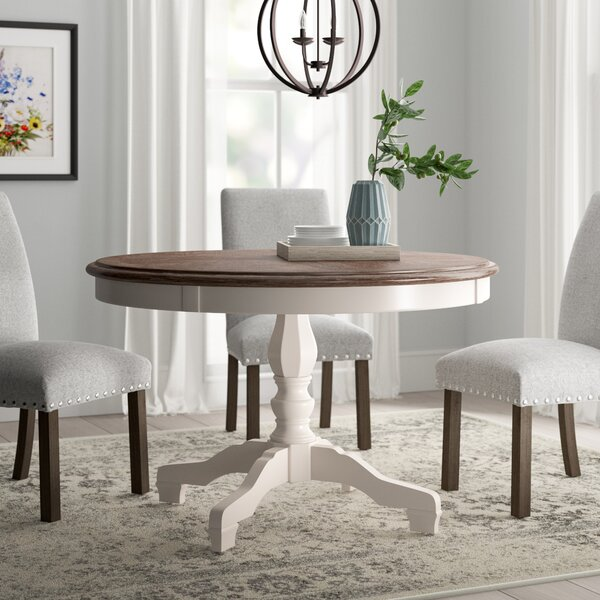 Carcassonne Solid Wood Dining Table by August Grove