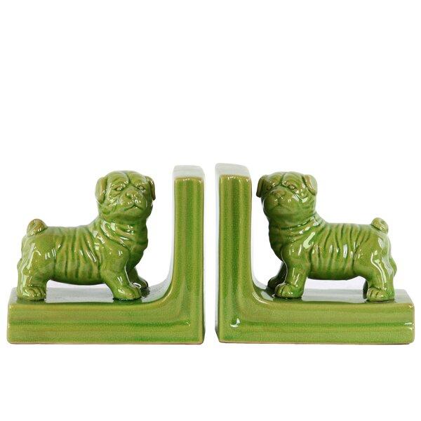 Ceramic British Bulldog Bookend (Set of 2) by Urban Trends