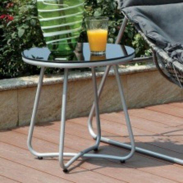 Adria Wicker/Rattan Side Table by Orren Ellis