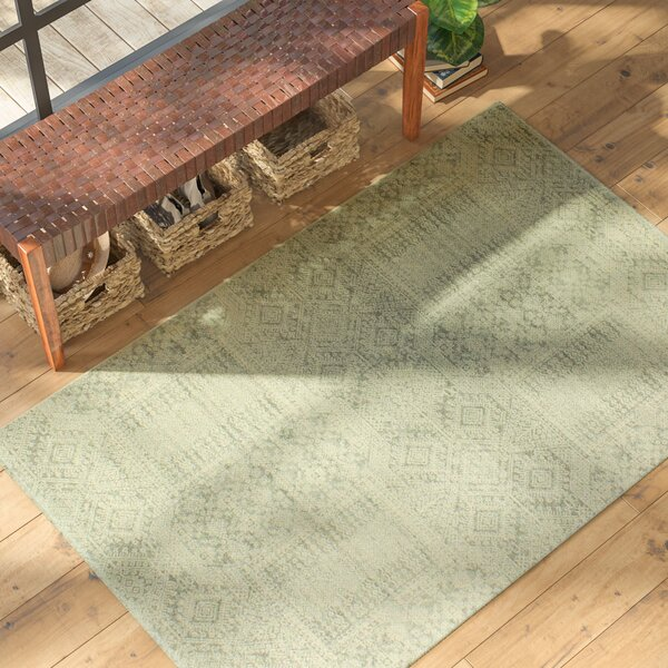 Felicienne Silver Geometric Area Rug by World Menagerie
