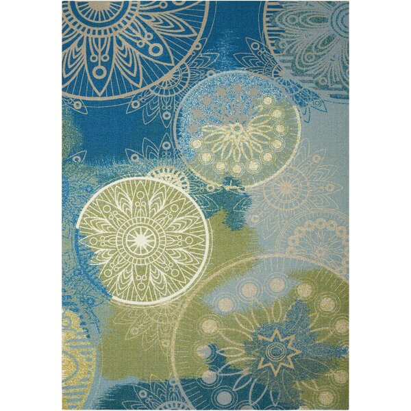 Mamer Blue Indoor/Outdoor Area Rug by World Menagerie