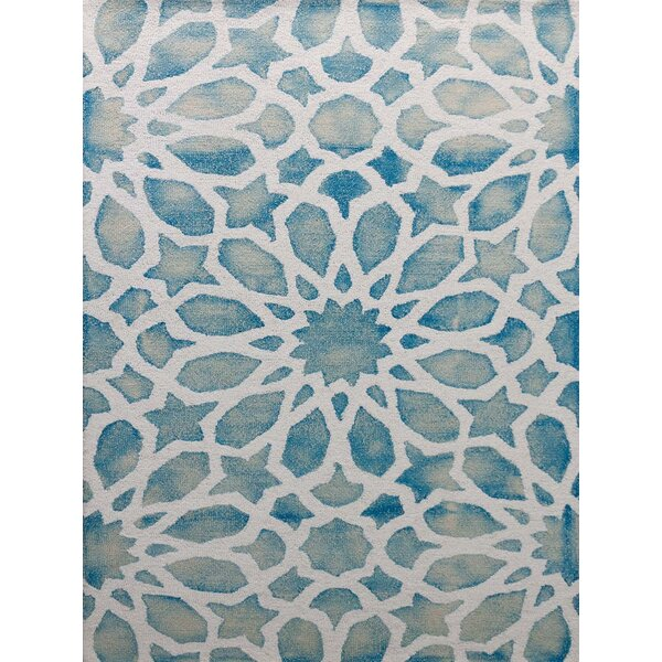 Julio Marine White Area Rug by Bungalow Rose