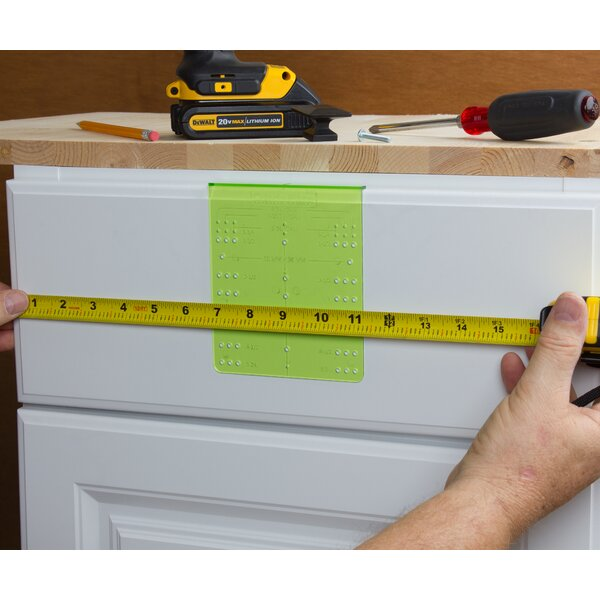 Cabinet Drawer Knob and Pull Installation Template Guide Kit by GlideRite Hardware