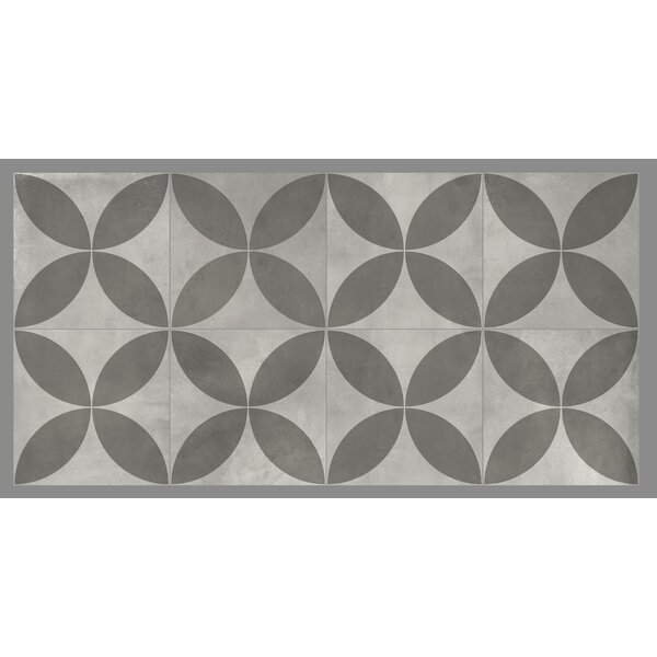 Gallery 8 x 8 Ceramic Field Tile in Avila Gray by Mulia Tile