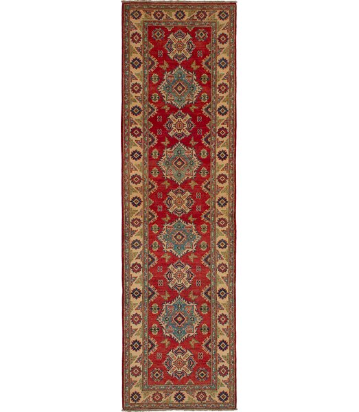 One-of-a-Kind Bernard Hand-Knotted Wool Red/Brown Area Rug by Bloomsbury Market