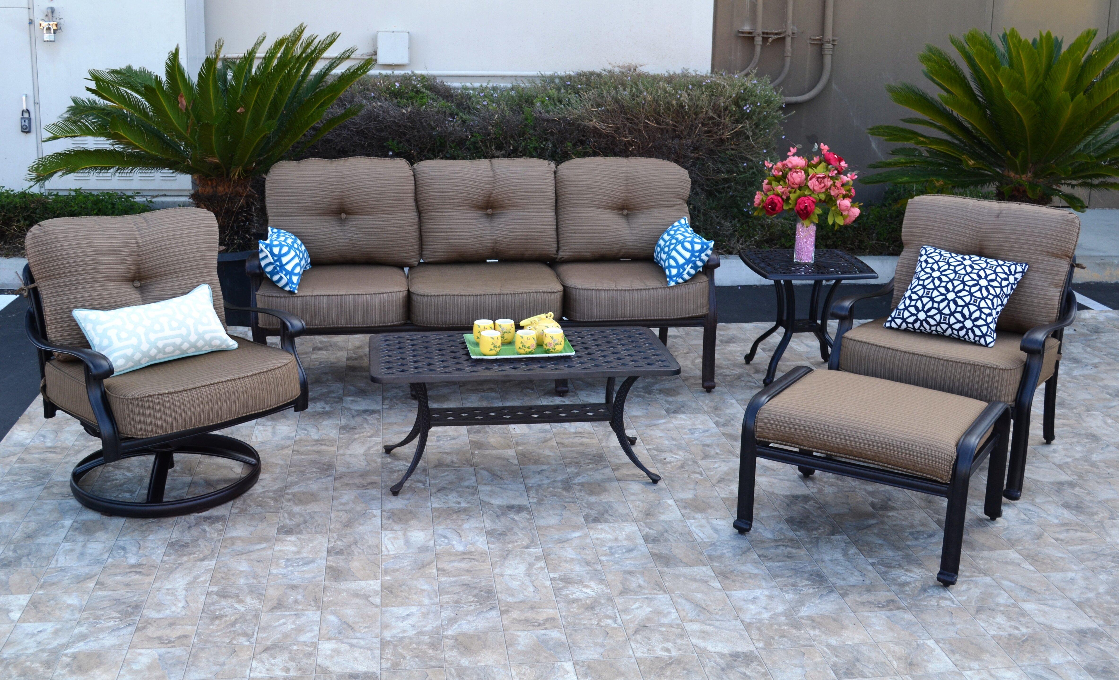 Nola 6 Piece Sunbrella Sofa Set With