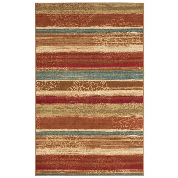 Castellano Red/Beige Area Rug by Fleur De Lis Living