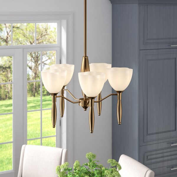 Delaware 5-Light Shaded Chandelier by Andover Mills
