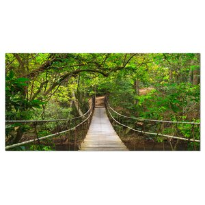 'Bridge to Jungle, Thailand' Photographic Print on Wrapped Canvas by Design Art
