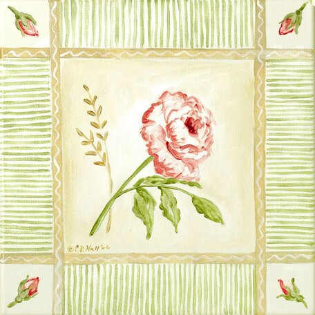 Cottage Rose Right Leaning Canvas Art by Oopsy Daisy
