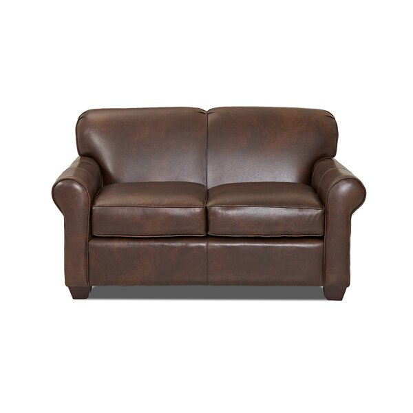 Jennifer Leather Loveseat by Wayfair Custom Upholstery™