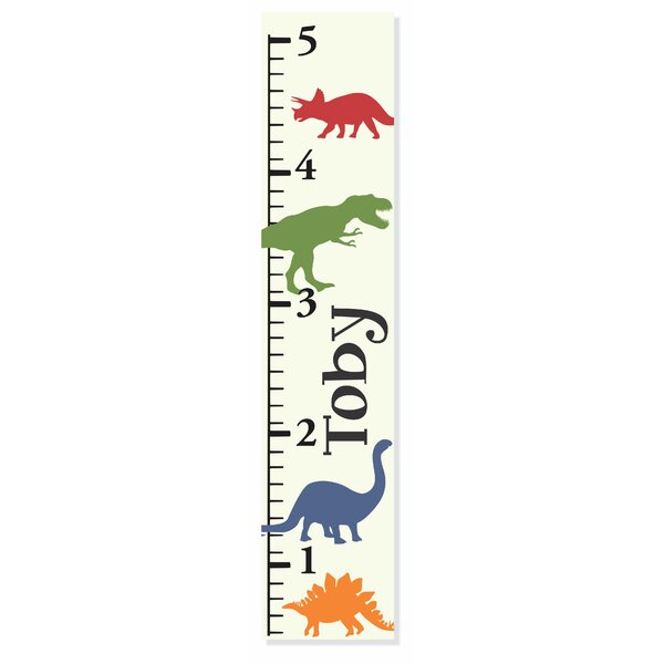 Dino Growth Chart by Decor Designs  Decals
