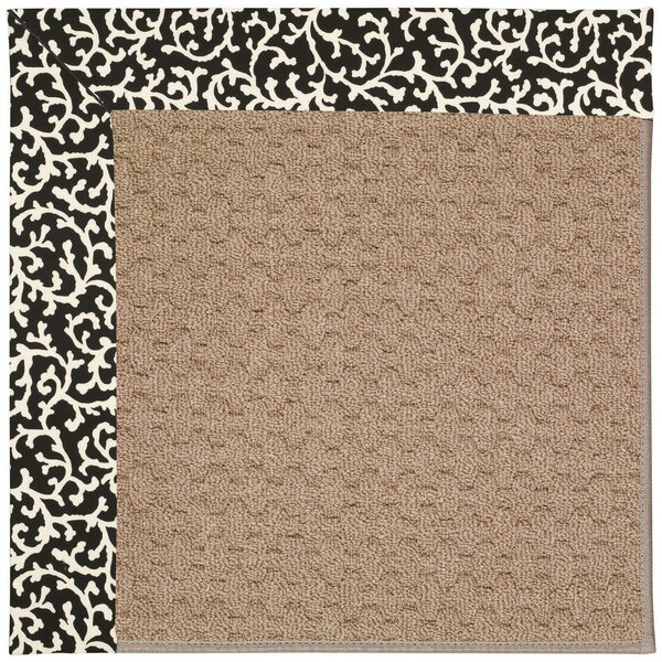 Lisle Machine Tufted Black Cascade/Brown Indoor/Outdoor Area Rug by Longshore Tides