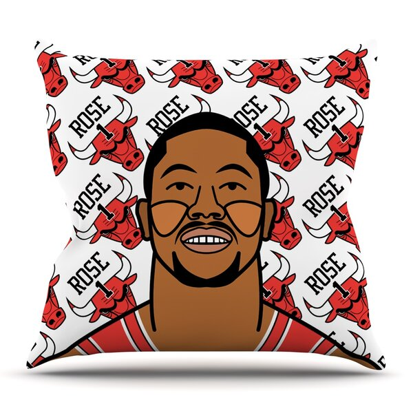 Derrick Rose Throw Pillow by KESS InHouse