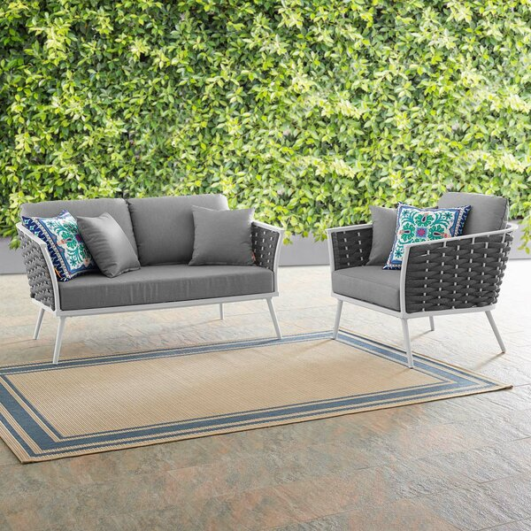 Rossville 2 Piece Sofa Seating Group with Cushions by Ivy Bronx Ivy Bronx