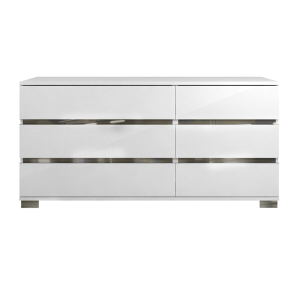 Wedemeyer Spacious 6 Drawer Double Dresser by Orren Ellis