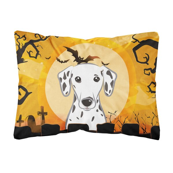 Joice Halloween Dalmatian Fabric Indoor/Outdoor Throw Pillow by The Holiday Aisle