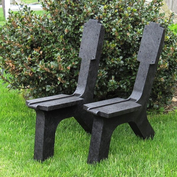 Plainfield Recycled Plastic Garden Bench (Set of 2) by Millwood Pines