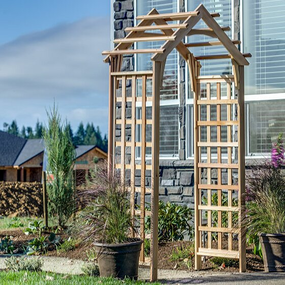 Gable Wood Arbor by Arboria