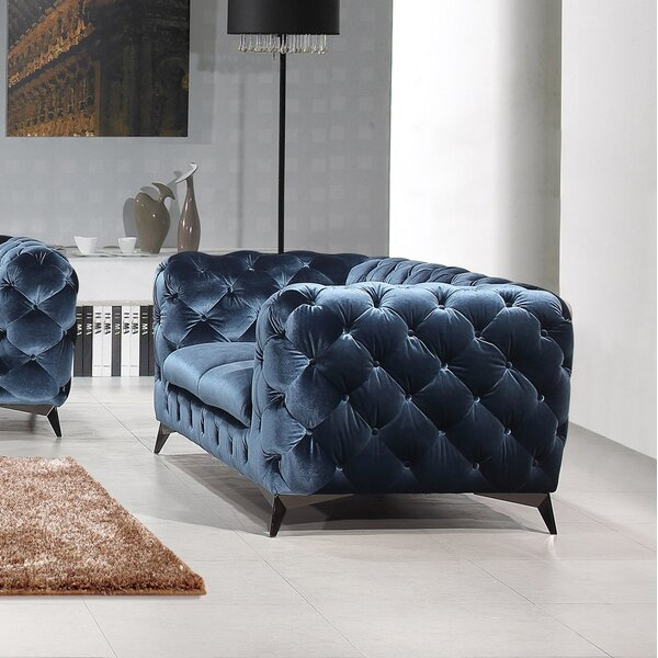 Binstead Chesterfield Loveseat by Rosdorf Park