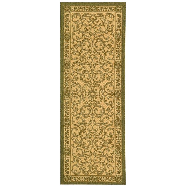 Carsen Natural/Olive Outdoor Rug by Astoria Grand