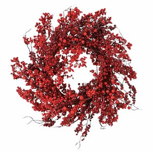 Red 22″ Berry Wreath
