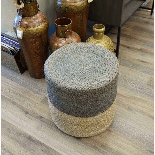 Markovich Jute Pouf by Bungalow Rose