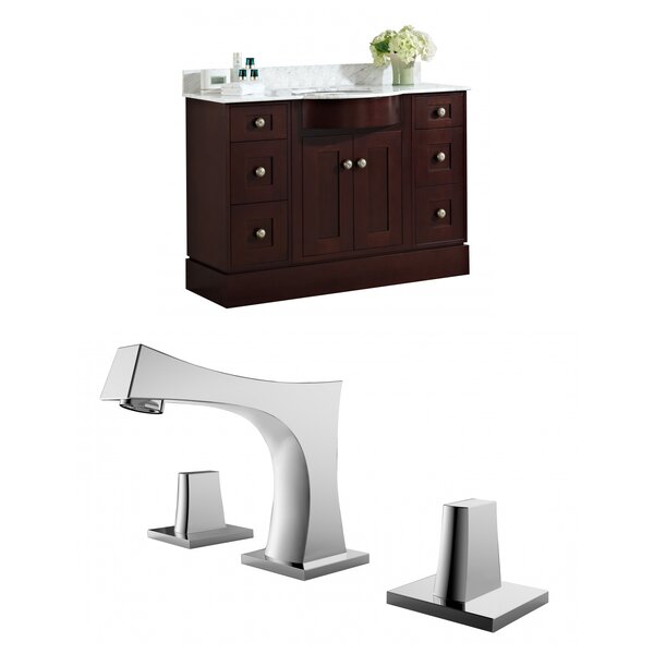 Kester 48 Multi-layer Stain Single Bathroom Vanity Set with Stone Top by Darby Home Co