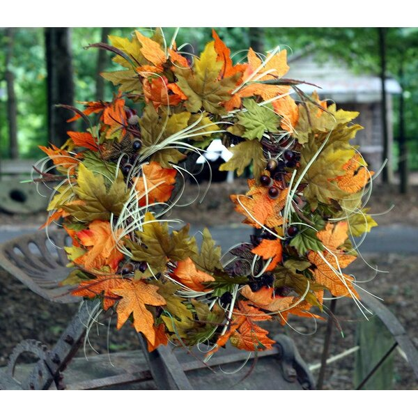 22 Fall Acorn Leaf Wreath by Flora Decor