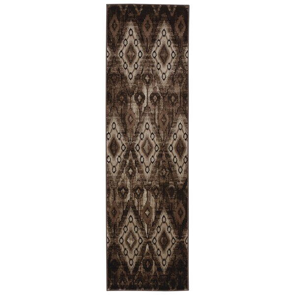 Saliba Chocolate Area Rug by Bungalow Rose