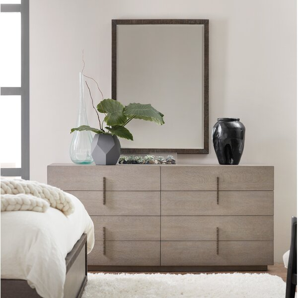 Miramar 8 Drawer Double Dresser with Mirror by Hooker Furniture