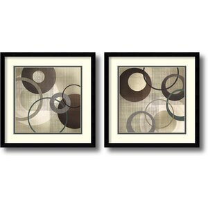 'Hoops and Loops' 2 Piece Framed Graphic Art Set by Zipcode Design