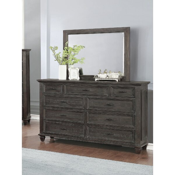 Kayli 9 Drawer Dresser with Mirror by Gracie Oaks