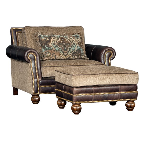 Hudak Club Chair and Ottoman by Bloomsbury Market
