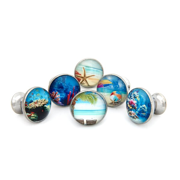 Tropical Ocean Beach Theme Round Knob Multipack (Set of 6) by Shabby Restore