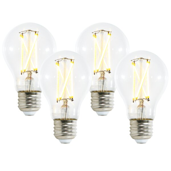 6W E26 Dimmable LED Edison Light Bulb (Set of 4) by Light Society